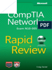 CompTIA Networkplus Rapid Review Exam N10 005