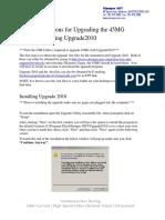 45MG Upgrade Instructions Using Upgrade 2010