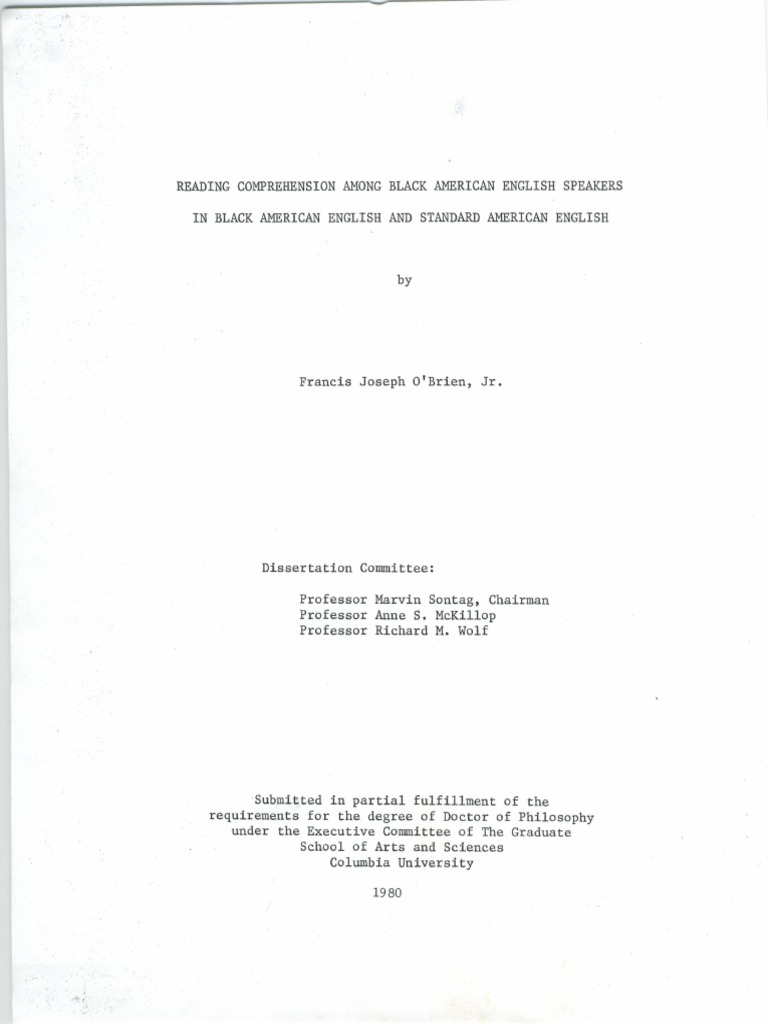 Columbia university phd thesis