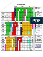 2016 Timetabling Calendar