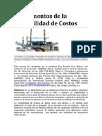 Fundamentos de la contabilidad de Costomentos de La Contabilidad de Costos
