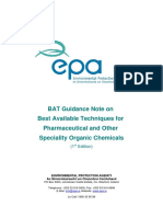 BAT Guidance Note Pesticides Pharmaceuticals & Speciality Organic Chemicals