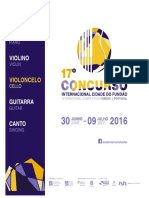 Concurso Internacional 2016 Regulamento Pt