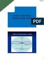 Faktor Dan Proses Pembentukan Tanah