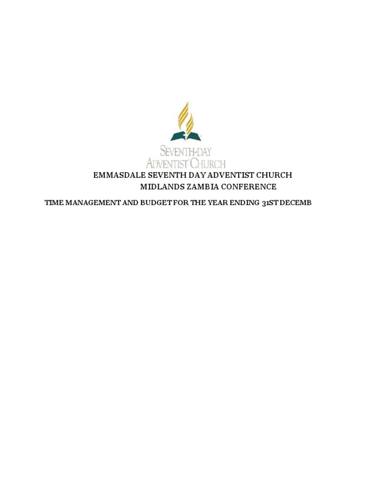 Emmasdale Seventh Day Adventist Time Management 2016