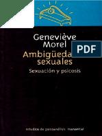 Morel - Ambigüedades sexuales. Sexuación y psicosis