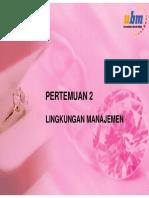 Pb2mat_pertemuan 2-Lingkungan Manajemen
