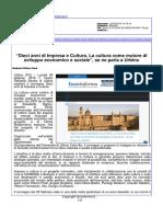 """""""Dieci anni di impresa e cultura. La cultura come motore di sviluppo economico e sociale"""" - Fano Informa.it, 22 febbraio 2016"""