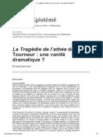 La Tragédie de l'Athée de Cyril Tourneur_ Une Vanité Dramatique