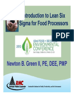 Introduction to Lean Six Sigma for Food Processors