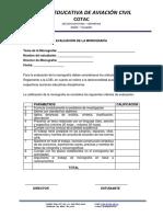 Matriz Para Evaluar Los Trabajos Monograficos