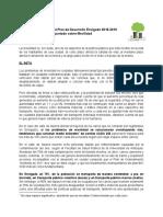 Propuestas en Movilidad para el Plan de Desarrollo Envigado 2016-2019