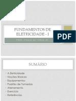 Aula01 Fundamentos de Eletricidade I