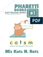 Alphabetti Book 1 - The All Cat Club