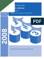 2008 Mark Scheme Paper1