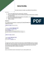 Série Pl SQL