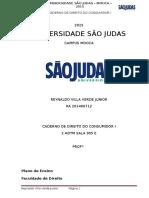 Caderno Direito Do Consumidro i Usjt 2015