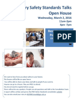 Calgary Open House Safety Talks Wed Mar 2