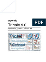 Adenda Tricalc 9.0 Português
