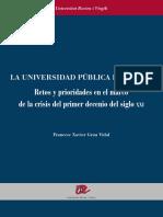 Universidad Publica Espanola Retos y Prioridades
