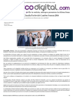 19-02-16 Clausura Gobernadora Claudia Pavlovich Cumbre Sonora 2016 - Peñasco Digital