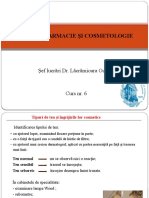 Dermofarmacie Si Cosmetologie Curs 6