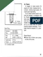 KE100 oil pump cable adjustment