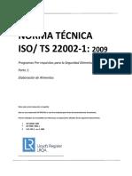 Iso Ts 22002-1 2009