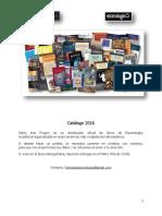 Catálogo 2016 Libros Escenología