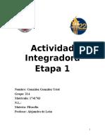 Actividad Integradora filosofía etapa 1