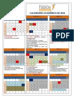 Calendário Acadêmico 2016 Albertina