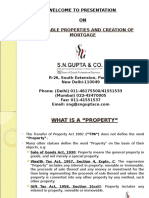 PRESENTATION Immovable Property and Importance of Title Documents