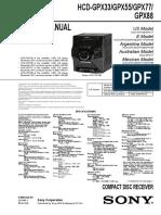 manual tecnico HCD-GPX55