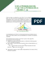 Cálculo de La Probabilidad Del Error Tipo II