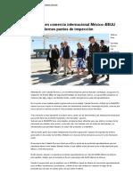 16-02-16 Fortalecen comercio internacional México–EEUU con modernos puntos de inspección - El Sol de México
