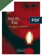 Anais Nin Foc. Din Jurnalul Dragostei