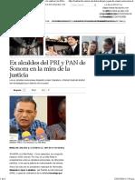 28-02-16 Ex alcalde del PRI y PAN de Sonora en la mira de la justicia