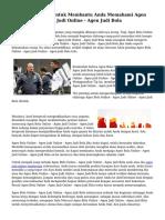 Mudah Pedoman Untuk Membantu Anda Memahami Agen Bola Online - Agen Judi Online - Agen Judi Bola