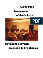 Circa 1978 Community of God's Love Covenant Servants Wkd