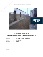 Memoria Descriptiva Obra Remodelacion de La Calle Italia Cdra.1