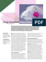 Drug Excpients Interactions