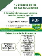 Situación y avances de los acuerdos de paz en Colombia