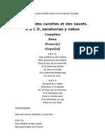 A B C D, Des Carottes Et Des Navets cancion francesa