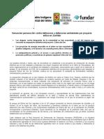 160223 COMUNICADO_Defensoras Binnizá Denuncias Agresiones.