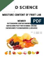 moisture contect of food lab