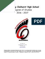 cohs program of studies 2016-17