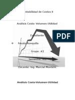 Analisis costo volumen utilidad