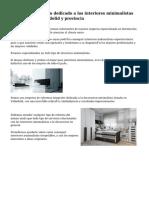 Interesante negocio dedicado a los  interiores minimalistas modernos en Valladolid y provincia