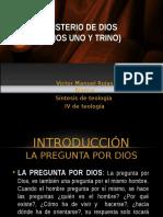 1. Misterio de Dios (Dios Uno y Trino). Sintesis Dogmática 2013