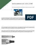 ¿Cuál Es La Diferencia Entre Los Conductores AAC, AAAC y ACSR_ _ Sector Electricidad _ Profesionales en Ingeniería Eléctrica
